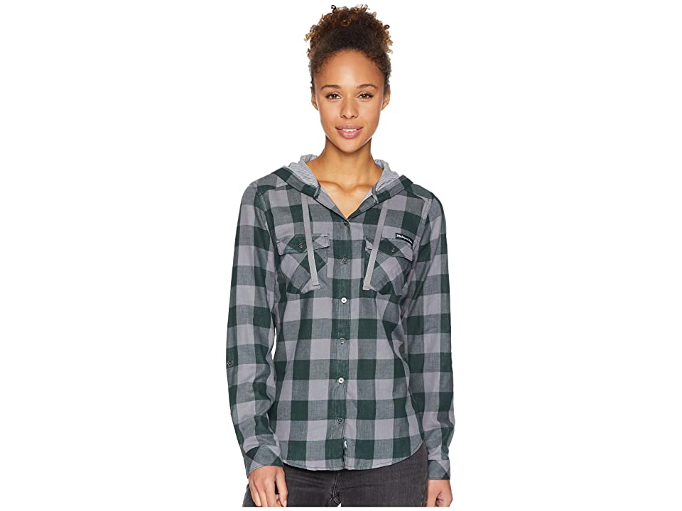 Columbia Collegiate Times Twotm Hooded Long Sleeve Shirt (MS/Spruce Check) Women