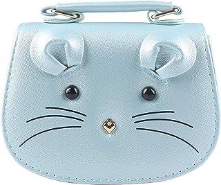 Pinky Family Super Cute Girls Purse Mouse Purse Shoulder Bag Messenger Bag Girls Gifts (Blue)