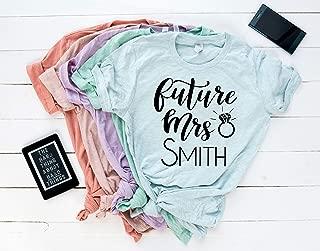 Future Mrs Slouchy Tee Shirt. Bride T-Shirt. Bachelorette Party Shirt. Bridal Shower Shirt. Bridal Shirt. Bride Shirt. Wedding Tee.