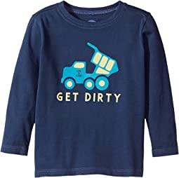 Life is Good Kids - Get Dirty Truck Long Sleeve Crusher Tee (Toddler)
