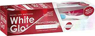 White Glo Professional Choice Whitening Toothpaste, Fluoride Protection Against Cavities, Highly Effective Whitening Formu...