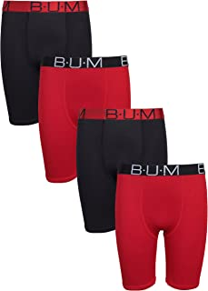 B.U.M. Equipment Boys' Performance Dri-Fit Compression Boxer Briefs (Pack of 4)