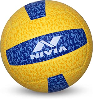 Nivia G 20-20 Rubber Volleyball (Yellow/Blue)