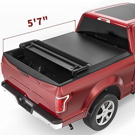 DNA MOTORING TTC-HARD-015 Truck Bed Top Hard Solid Tri-Fold Tonneau Cover