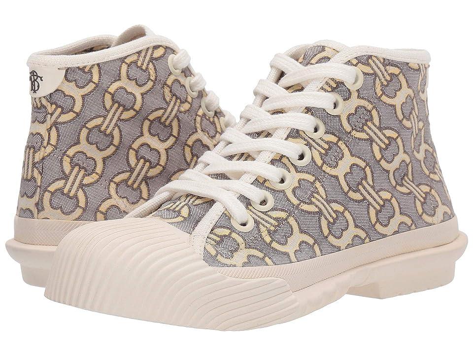 Tory Burch Buddy High Top Sneaker (Tan Gemini Link Jacquard/Off-White) Women