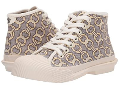 Tory Burch Buddy High Top Sneaker (Tan Gemini Link Jacquard/Off-White) Women