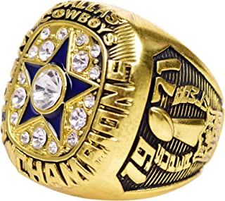 HASTTHOU Super Bowl Championship Replica Ring for Sports Fans (1971 Dallas Cowboys, with Box)