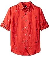 Embroidered Roll Up Shirt (Toddler/Little Kids/Big Kids)