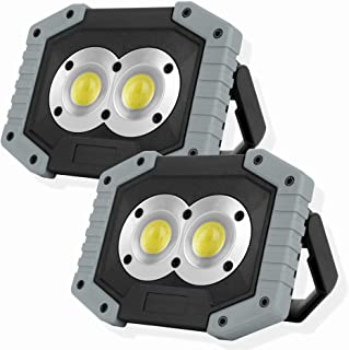 OTYTY COB 30W 1500LM LED Work Light 2 Pack, Rechargeable Portable Waterproof LED Flood Lights Outdoor Camping Hiking Emerg...
