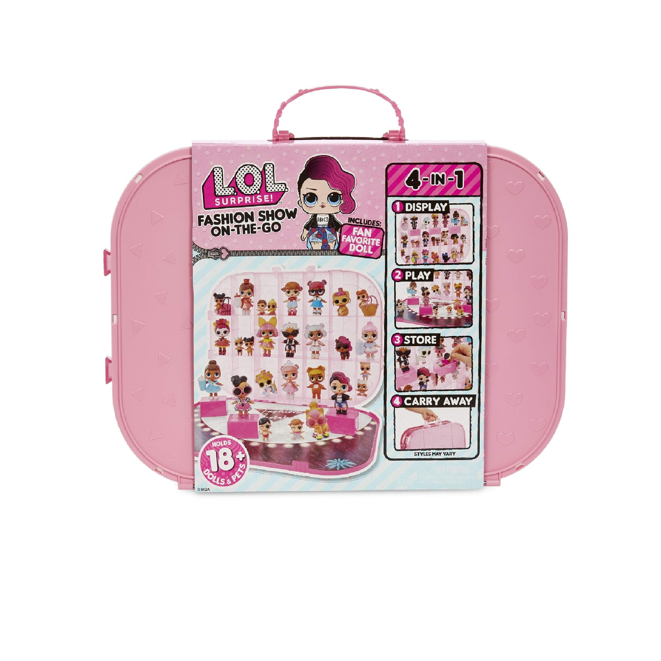 L.O.L 서프라이즈 패션쇼 온더고 플레이 세트 L.O.L Surprise! Fashion Show On-The-Go Storage/Playset with Doll Included