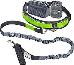 vitazoo Guinzaglio da Jogging con Cintura Addominale Elastica (1,2 m-2 m), Strisce Riflettenti, per Cani di Media e Grossa Taglia - Correre in libertà, passeggiare con Il Cane
