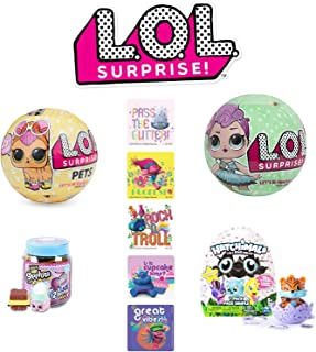 LOL Surprise! Pets Ball Mega Bundle - LOL Surprise! Pets Ball, LOL Surprise Ball Series 2, Shopkins Jar, and 5 Troll Stick...
