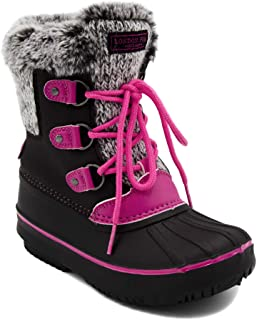 London Fog Girls Tottenham Cold Weather Warm Lined Snow Boot