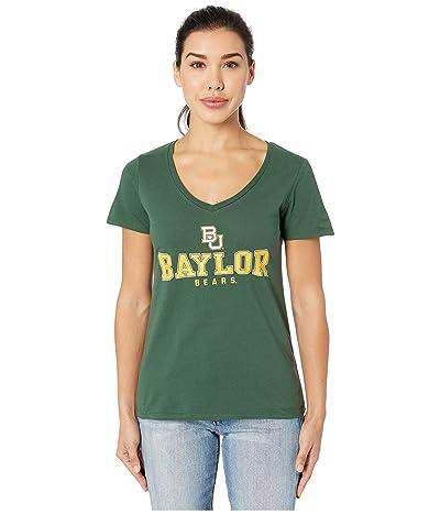 Champion College Baylor Bears University V-Neck Tee (Dark Green 2) Women