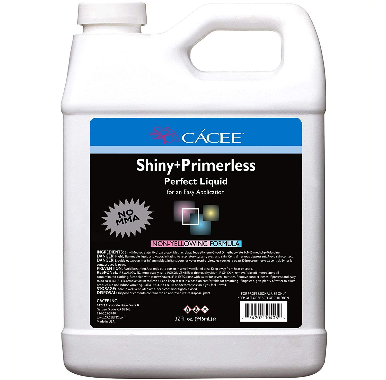 No Primer Acrylic Nail Liquid Monomer + service oz Store 32 Primerless Shiny