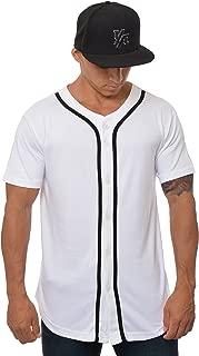 Baseball Jersey Men Button Down Cotton 304