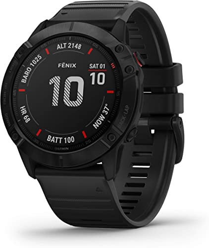 Garmin fēnix 6X Pro, Ultimate Multisport GPS Watch, Features Mapping, Music, Grade-Adjusted Pace Monitoring and Pulse...
