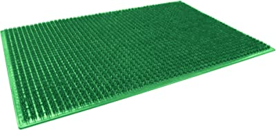 Décor Line Rectangular Polyethylene Doormat - 58 x 38 cm - Green