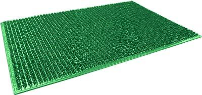 Décor Line Rectangular Polyethylene Doormat - 58x 38cm - Green