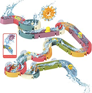 48 PCS Baby Bath Toys, Water Slide Toy Track with Suction Cup, Toy Ducks, Water Toys for Bathtub, Bath Toys for Toddlers ...