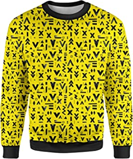 Rainbow Rules Inked Geometric Symbols Mens Sweatshirt