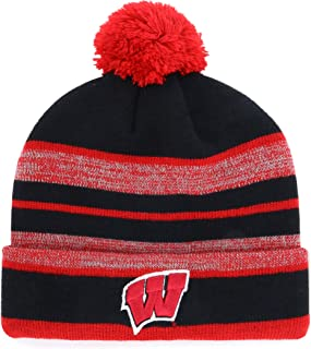 OTS NCAA Men's Huset Cuff Knit Cap with Pom