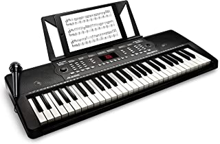 Alesis Melody 54 | 54-Key Electric Keyboard Piano with Speakers, Microphone, Music Rest, Educational Tools, 300 Sounds, 300 Rhythms and 40 Demo Songs