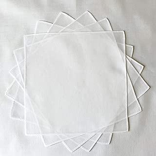 ハンカチ 白 無地 20cm 10枚組 60ローン 綿100% 染色 刺繍 お受験 入園入学準備 マスクに挟めるサイズ 日本製