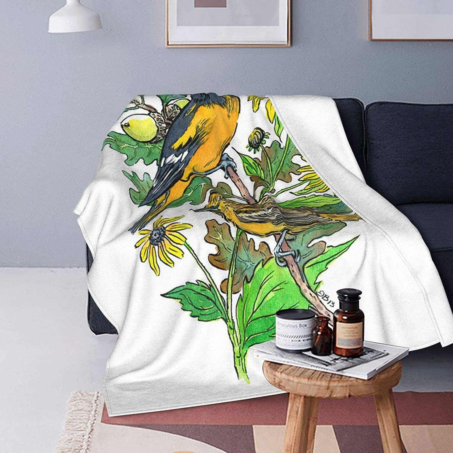 Oriole Mail order cheap and Flower Ultra-Soft Micro Blanket Fleece Manufacturer direct delivery Flannel Light