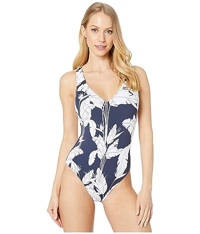Roxy Print Beach Classics One-Piece Swimsuit (Mood Indigo Flying Flowers) Women