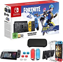 """Newest Nintendo Switch Console - Wildcat Edition with Yellow and Blue Joy-Con, Built-in Speakers, 6.2"""" Touchscreen LCD Dis..."""