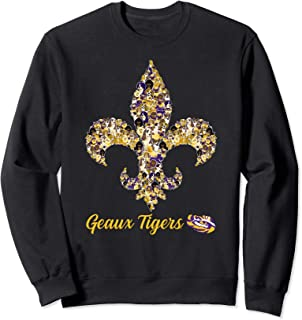 LSU Tigers Dogs Inside Fleur De Lis Sweatshirt - Apparel