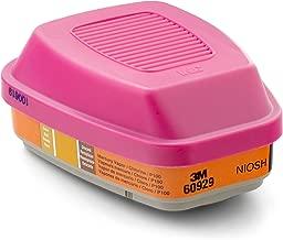 3M Mercury Vapor/Chlorine Gas Cartridge/Filter 60929, P100 Respiratory Protection  (Pack of 2)