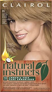 Clairol Natural Instincts, 8G / 4 Sunflower Medium Golden Blonde, Semi-Permanent Hair Color, 1 Kit (Pack of 3)