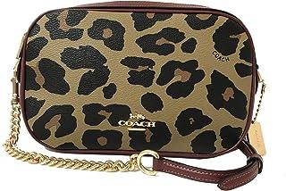 COACH Signature Leopard Print Mix Isla Crossbody