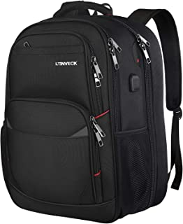 17 inch Laptop Backpack,Heavy Duty Extra Large Capacity Traveling Backpack for Men,TSA Friendly Flight Approved Sturdy Gaming Backpack with USB Charging Port,Huge Anti Theft College School Bookbag