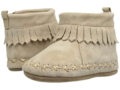 Robeez Cozy Ankle Moccasin Soft Sole (Infant/Toddler) (Taupe) Boy