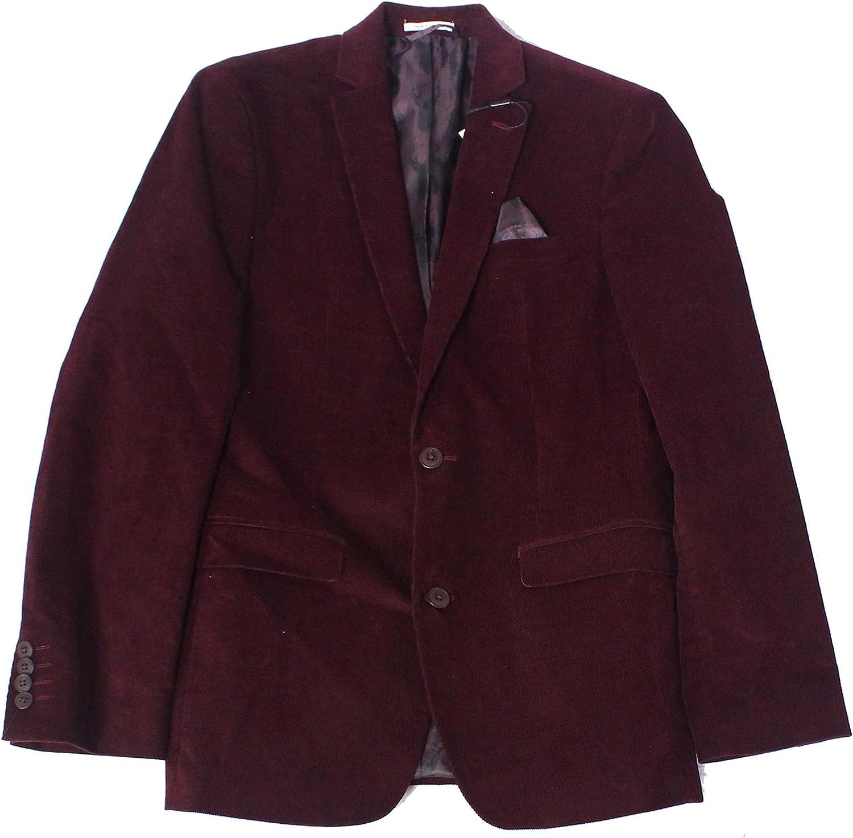 bar III Mens Corduroy Two Button Blazer Jacket