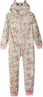 Betsey Johnson Girls' Big Animal Print Blanket Sleeper
