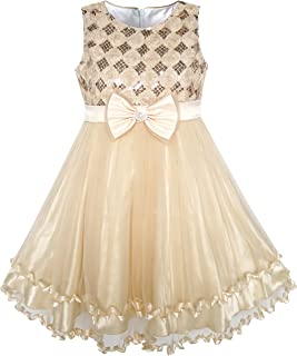 Sunny Fashion Girls Dress Purple Flower White Tulle Pleated Wedding Party Child Clothes