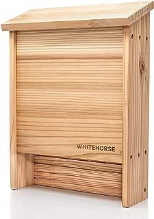 WHITEHORSE - Cedar Wood Bat House   Premium 2-Chamber bat Box   Holds up to 75 Bats   Built to Last Decades Outdoors