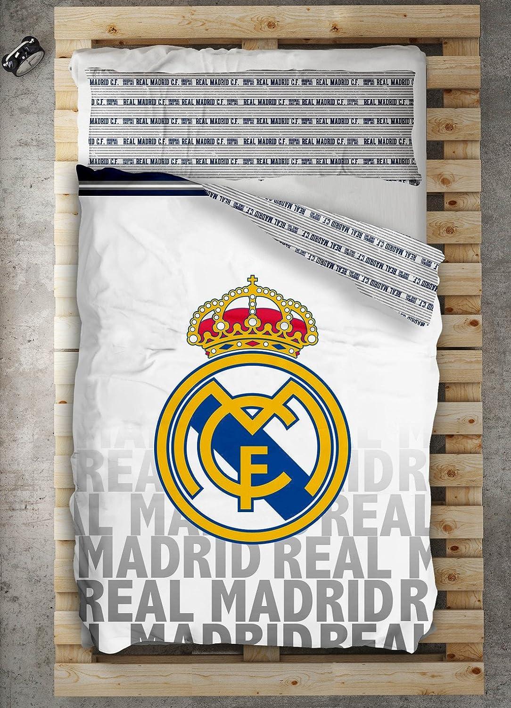 comprar barato Textilonline - Funda Nordica 2 Pzas. Real Real Real Madrid Emblema (Cama 90 cms., Color Unico)  tienda en linea