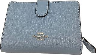 42a1a1547abd0 Coach Crossgrain Leather Medium Corner Zip Wallet Cornflower F11484