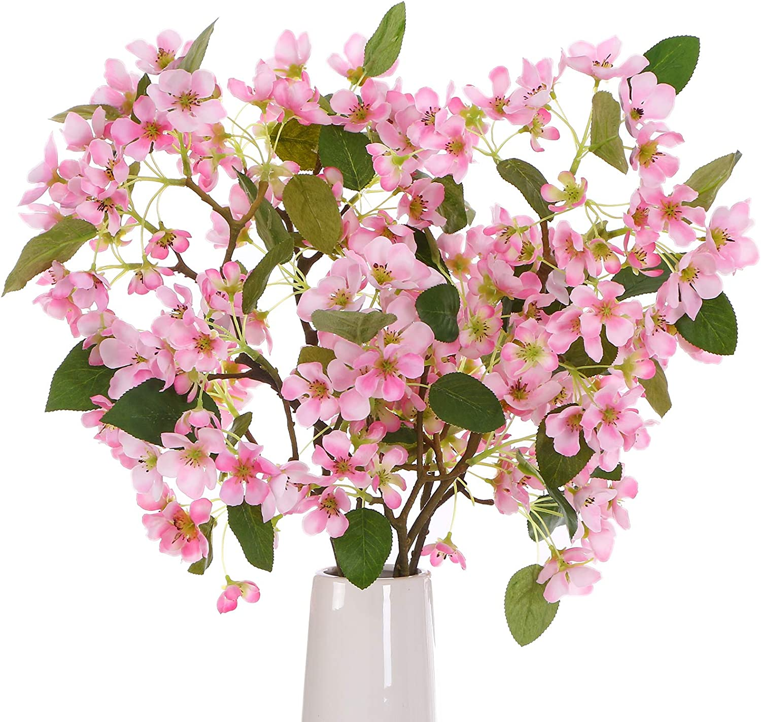 ANWBROAD Artificial Cherry Blossom Branches Cherry Blossom Flowers Faux Cherry Blossom 3 PACK Silk Sakura Flower Fresh Real Touch Flowers Realistic Home Wedding Decoration Floral Arrangement ULAF04PP