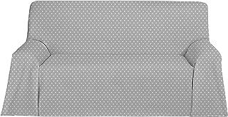 Martina Home Candy Star Foulard Multiusos, Tela, Gris, 250 x 270 cm
