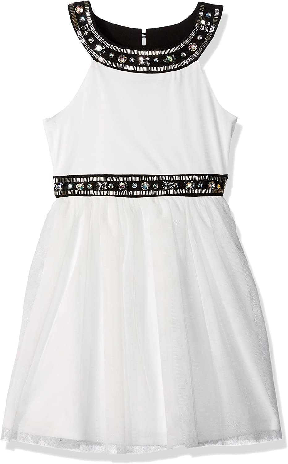 My Michelle Girls' Big Dress with Details Regular dealer Tulle and Jewel Classic Skirt