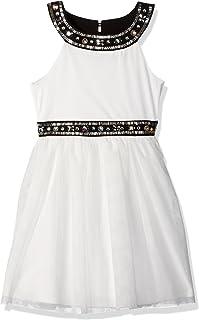 فستان ماي ميشيل كبير للفتيات بتفاصيل الجواهر وتنورة من التول