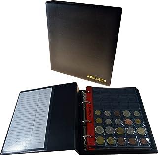 PELLER'S Álbum de Monedas para 275 Monedas (Tipo M Álbum). 5+5 Hojas con 100 Compartimentos 35x40mm y 175 Compartimentos 27x27mm. Ideal para Monedas de Euro y Otros. (Modelo M)