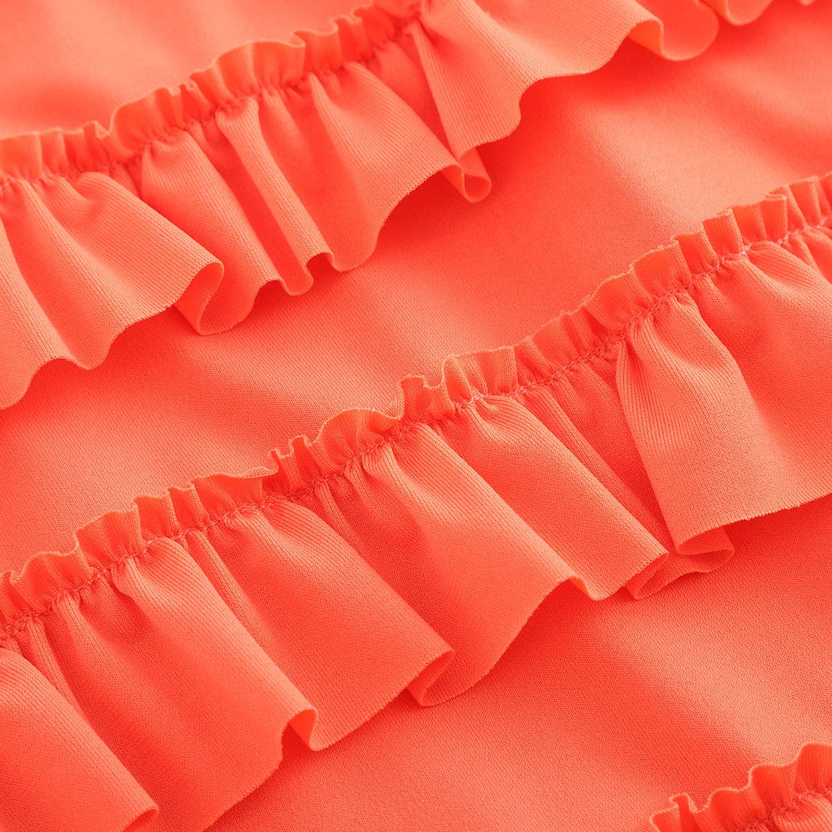 E-sunny Women's 7 Tiered Boho Layered Ruffles Waterfall Maxi Skirt