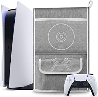 Esimen Capa protetora contra poeira para console PS5/PlayStation 5 Digital Edition, capa de viagem para o controle compatí...